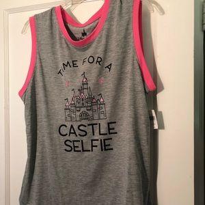 Disney castle tank top XL NWT